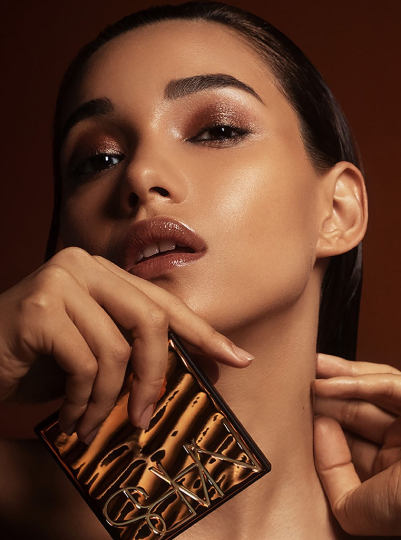 Model Cleirys Velasquez poses for NARS Cosmetics campaign. Photo: David Roemer