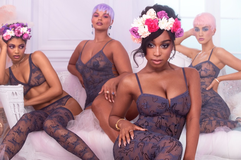 Wearing a flower crown, Normani poses for Savage x Fenty spring-summer 2020 campaign