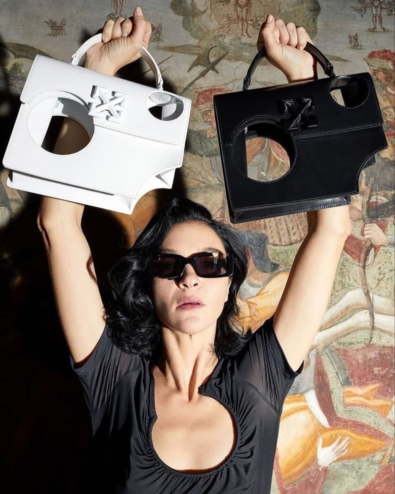 Mariacarla Boscono stars in Off-White accessories spring-summer 2020 campaign.