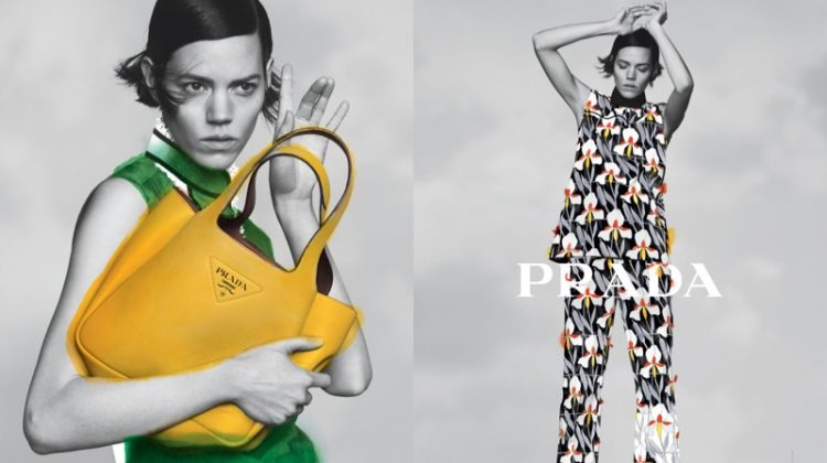 Freja Beha Erichsen stars in Prada pre-fall 2020 campaign.