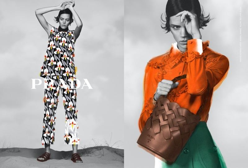 Prada unveils pre-fall 2020 campaign with Freja Beha Erichsen.