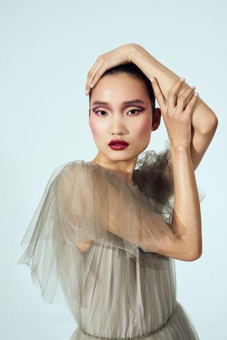 Qian Li Shows Off Elegant Beauty in Marie Claire Spain