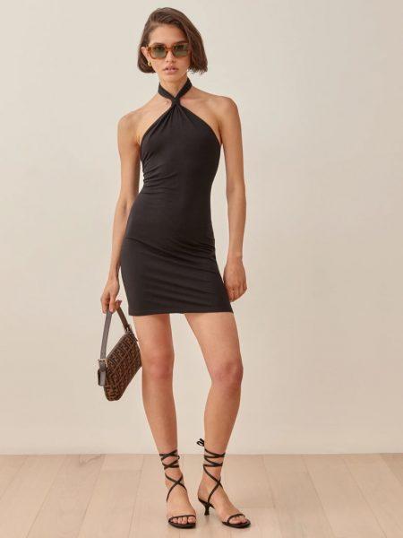 Reformation Cibrina Dress in Black $118