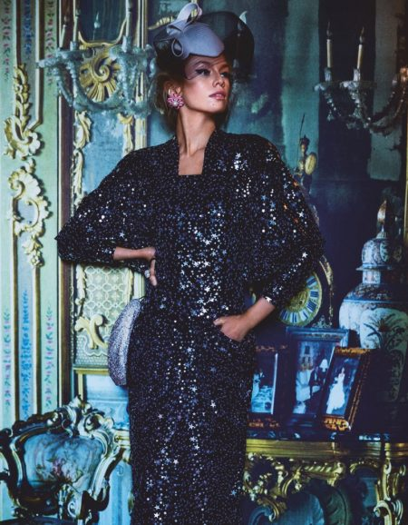 Stella Maxwell Takes On Opulent Looks for Vogue Japan