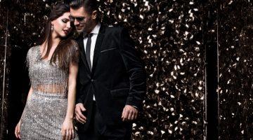 Stylish Couple Fringe Silver Dress Pantsuit