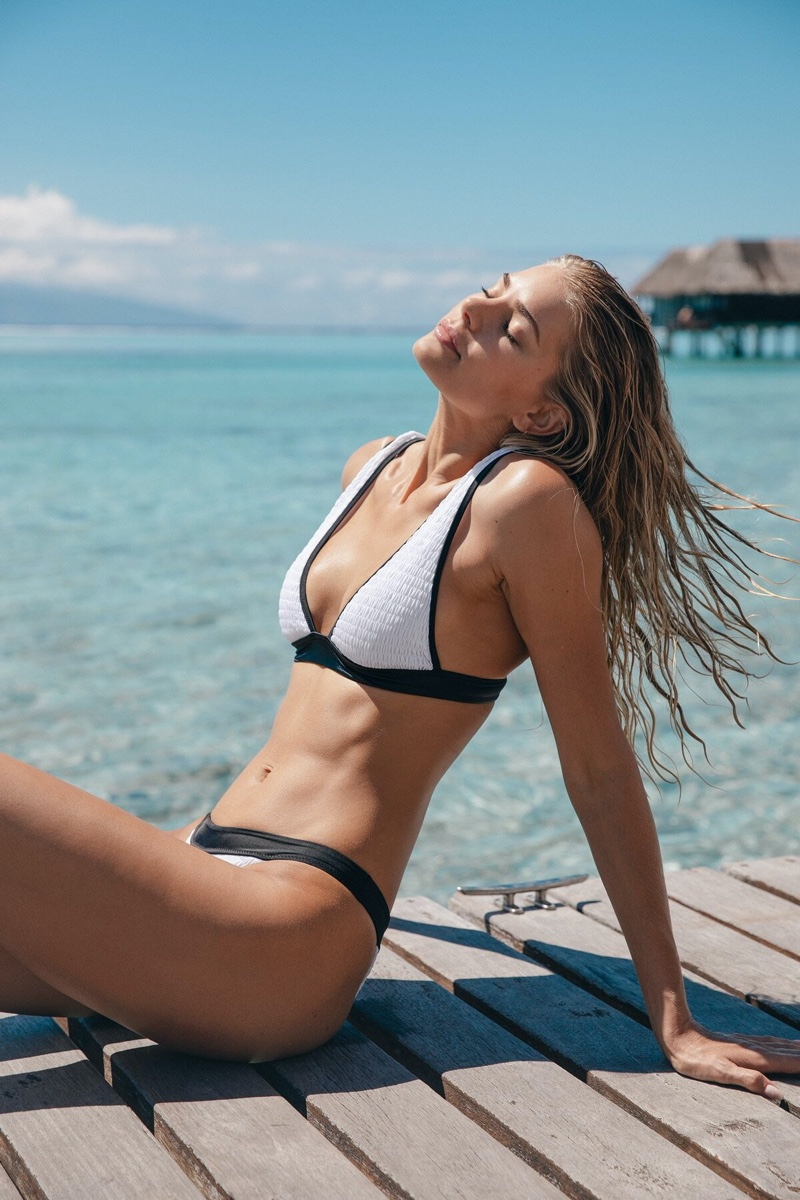 Tori Praver stars in Tori Praver Swimwear spring-summer 2020 campaign.