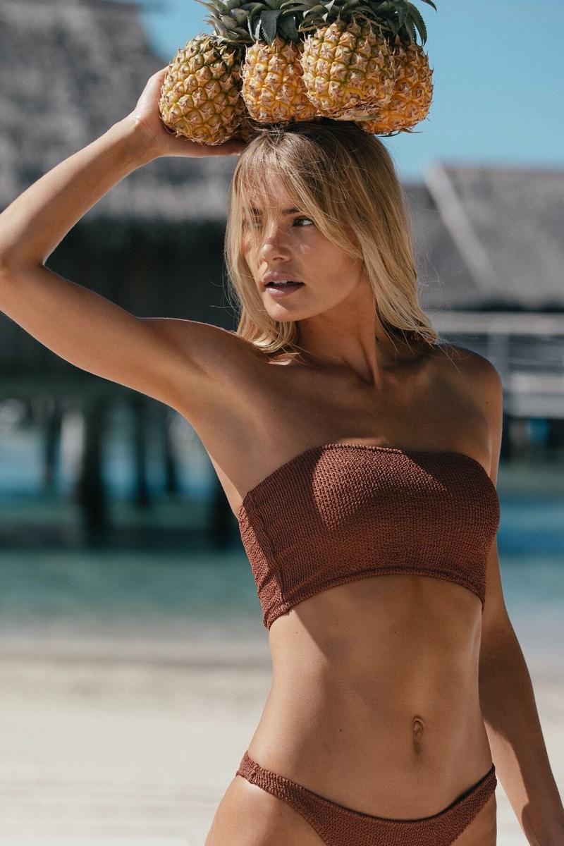 Tori Praver fronts Tori Praver Swimwear spring-summer 2020 campaign.