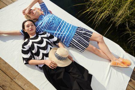 Models Ling Chen and Caroline Winberg front Uniqlo x Marimekko spring-summer 2020 campaign.