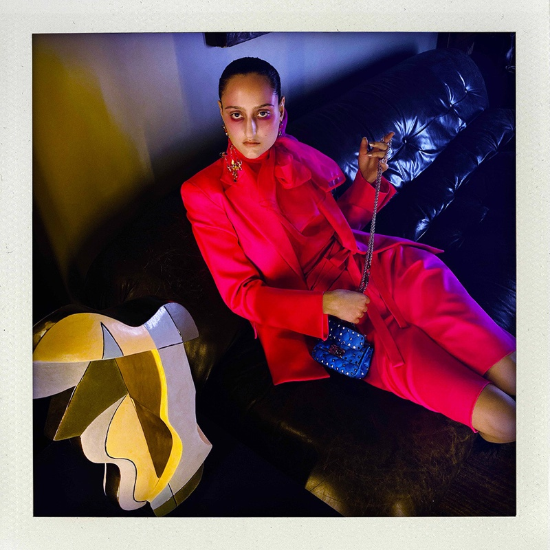 Jess Maybury stars in Valentino Fluo spring-summer 2020 campaign