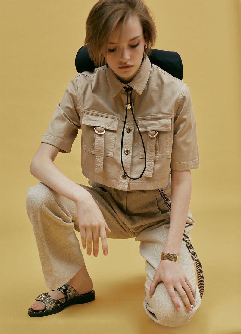 Valeria Chenskaya Channels Safari Style for Harper's Bazaar Russia
