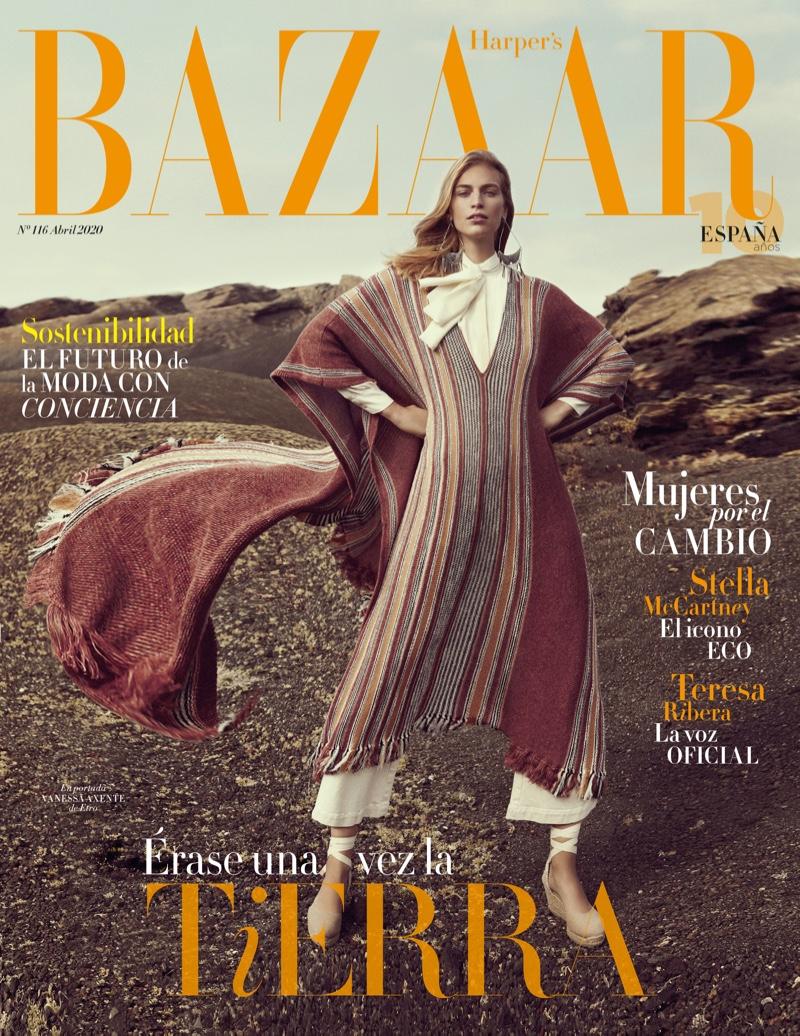 Vanessa Axente on Harper's Bazaar Spain April 2020 Cover. Photo: Xavi Gordo