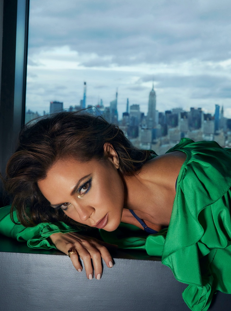 Victoria Beckham wears Victoria Beckham blouse with Eres top. Photo: An Le