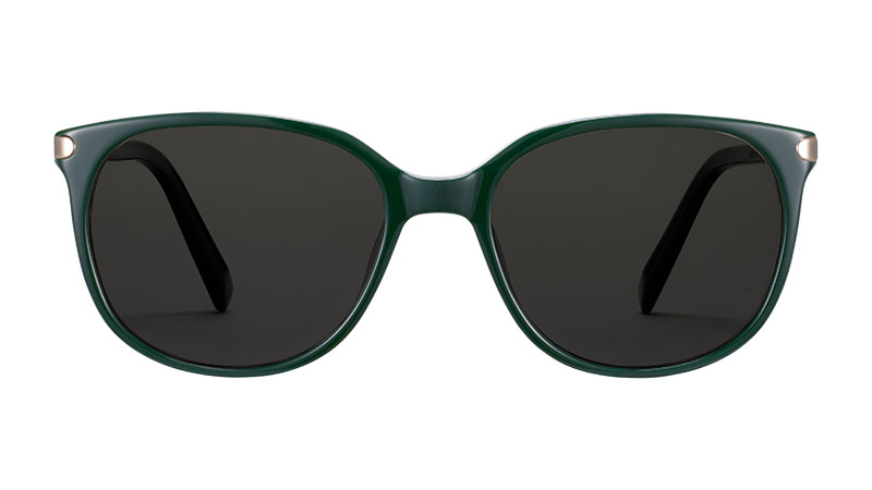 Warby Parker Laurel Sunglasses in Forest Green with Riesling $145