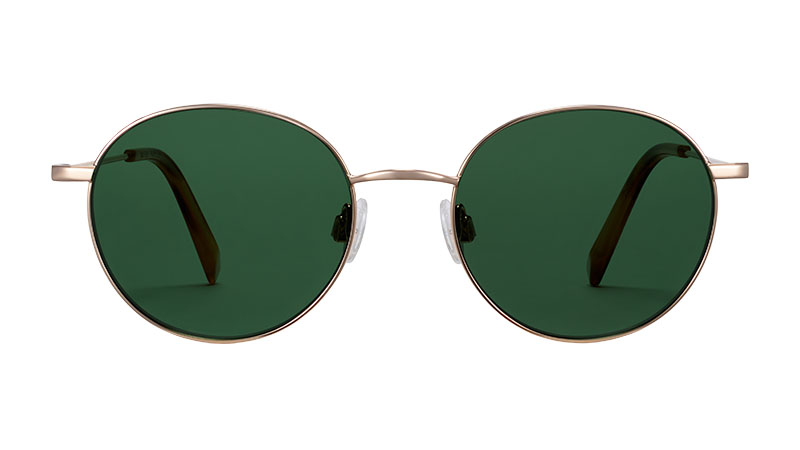 Warby Parker Merrick Sunglasses in Polished Gold $145