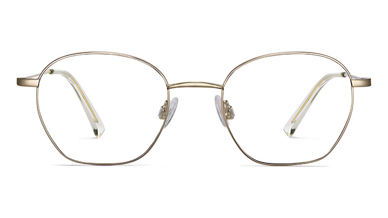Warby Parker Robbie Glasses in Polished Gold $145