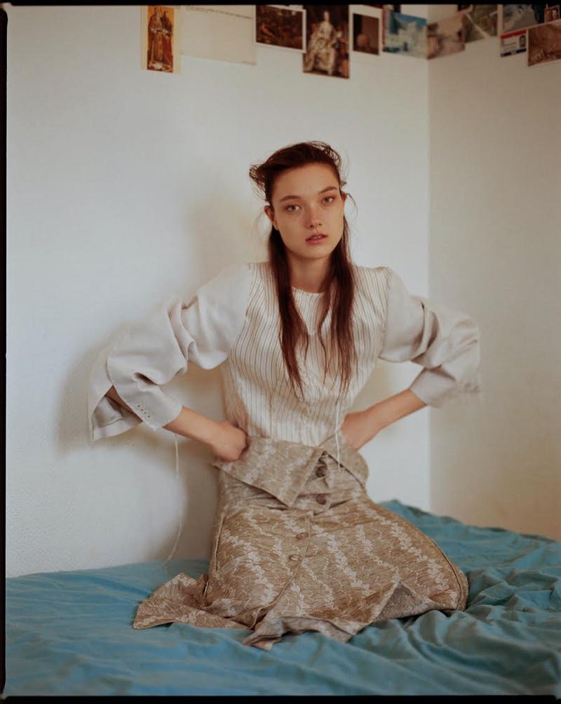 Yumi Lambert Graces the Pages of Harper's Bazaar Ukraine
