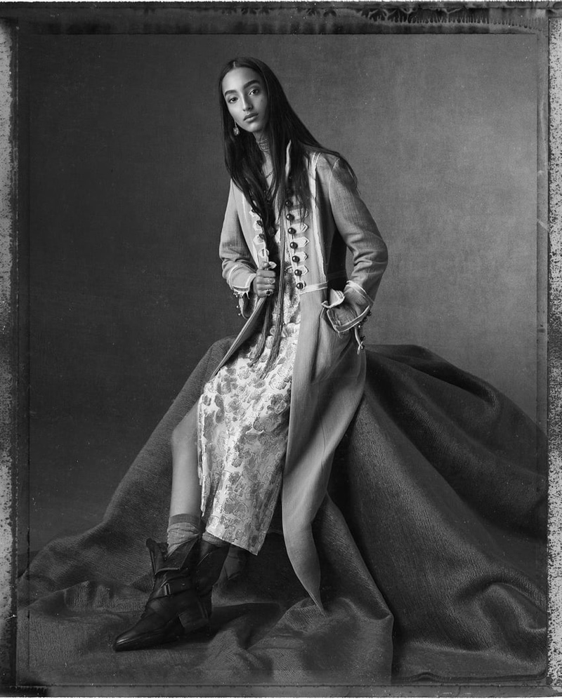 Mona Tougaard poses for Zara spring-summer 2020 campaign