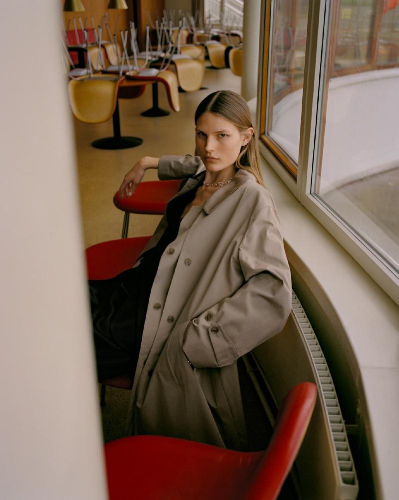 Adela Stenberg Models Minimal Style in ELLE Denmark