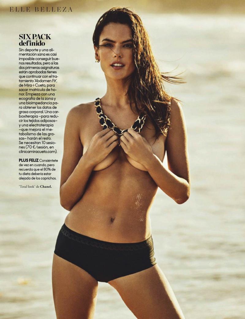 Alessandra Ambrosio is Ready for Swimsuit Season in ELLE Spain