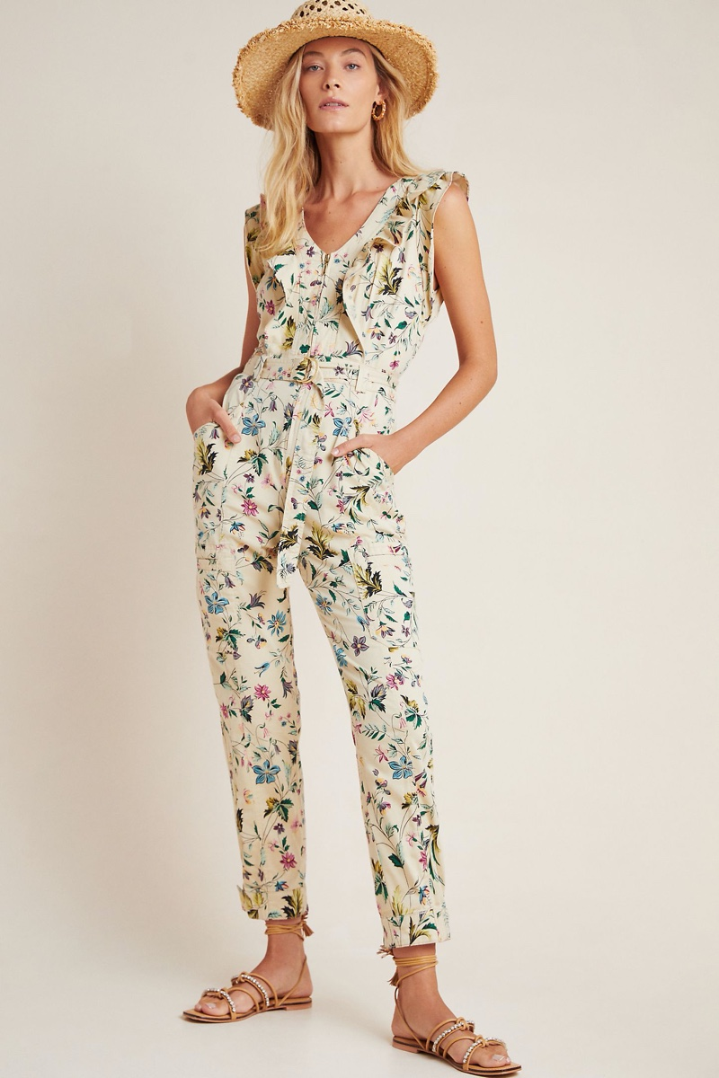 Anthropologie Violet Ruffled Utility Jumpsuit $168
