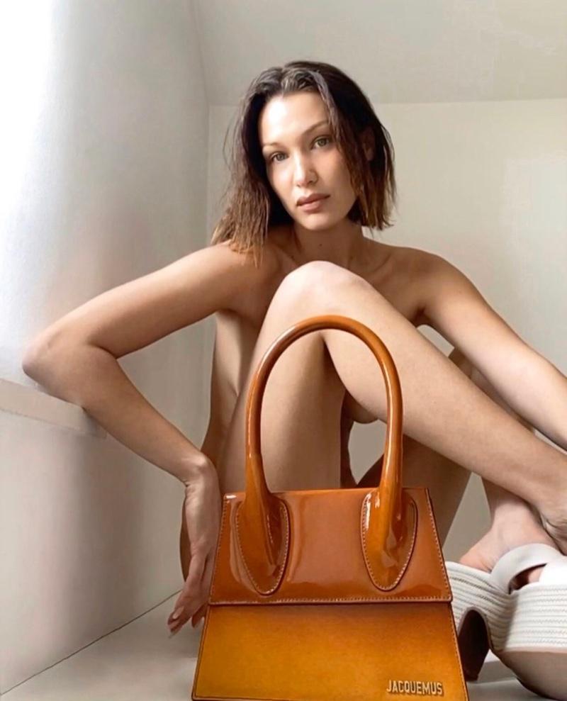 Posing naked, Bella Hadid fronts Jacquemus spring-summer 2020 digital campaign.