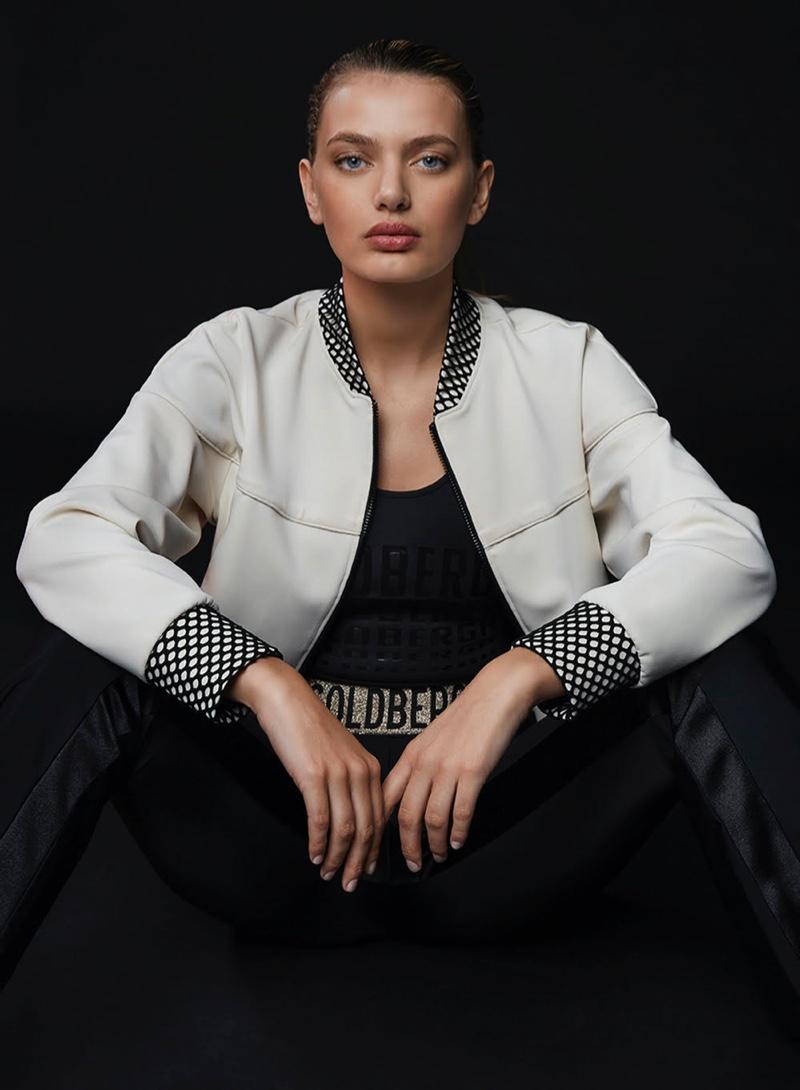 Model Bregje Heinen poses for Goldbergh Activewear spring-summer 2020 campaign.