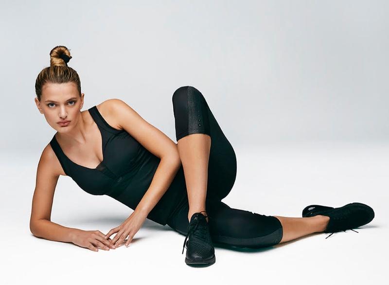 Model Bregje Heinen strikes a pose in Goldbergh Activewear spring-summer 2020 campaign.