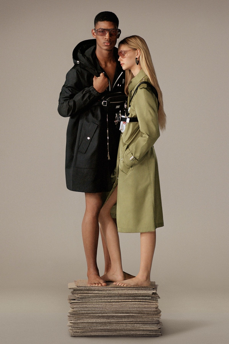 Tara Halliwell and Reece Nelson model Burberry ReBurberry sustainable styles.