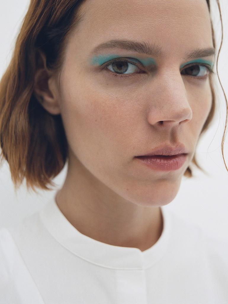 Model Freja Beha Erichsen gets her closeup in COS spring-summer 2020 campaign.