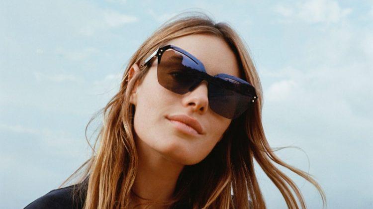 Model Camille Rowe appears in Rag & Bone Eyewear spring-summer 2020 campaign.