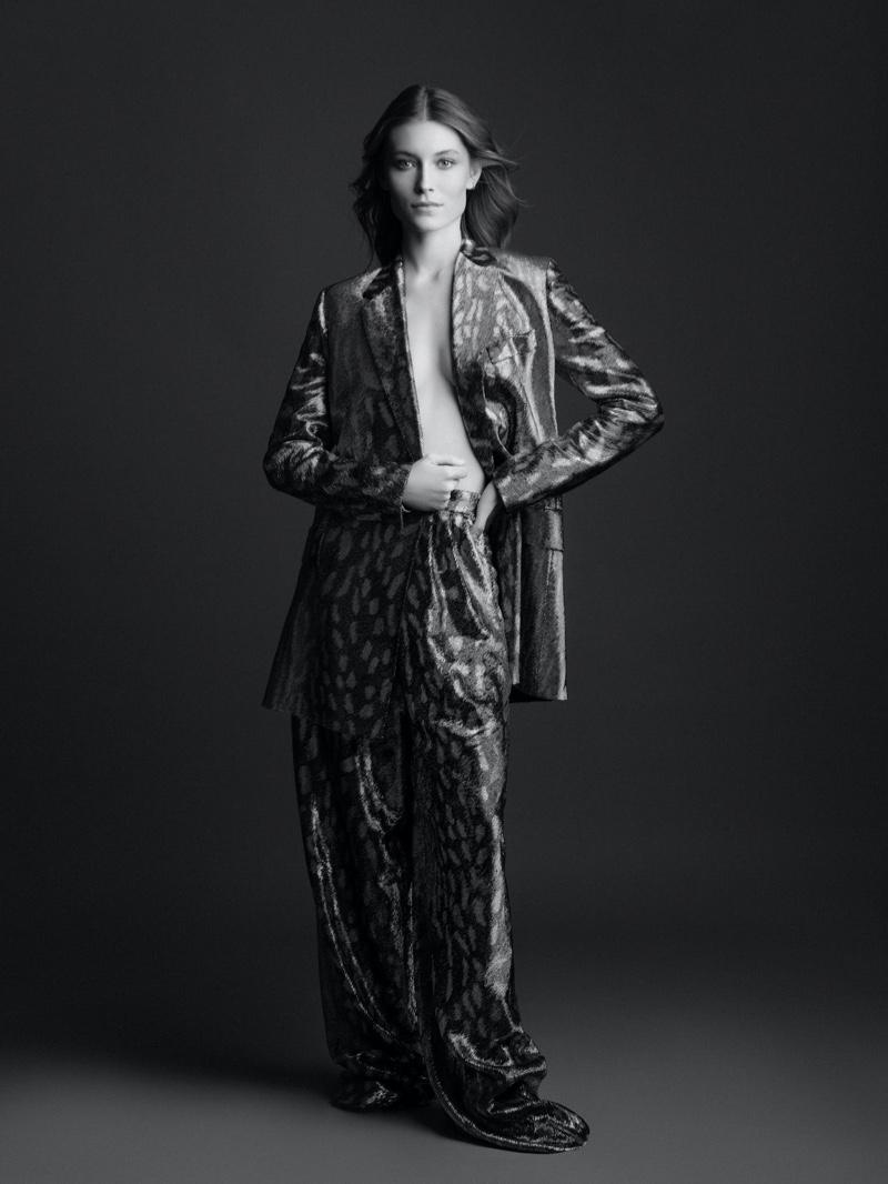 Caroline Lossberg Wears Chic Ensembles for Harper's Bazaar Serbia