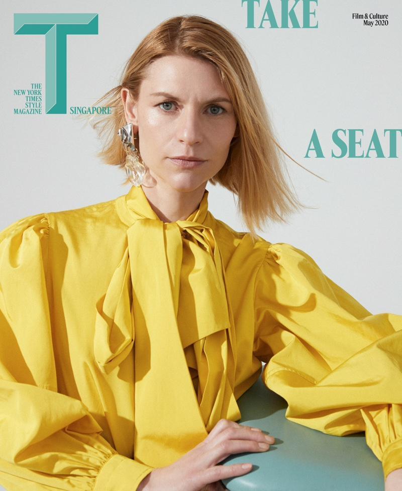 Claire Danes on T Singapore May 2020 Cover.