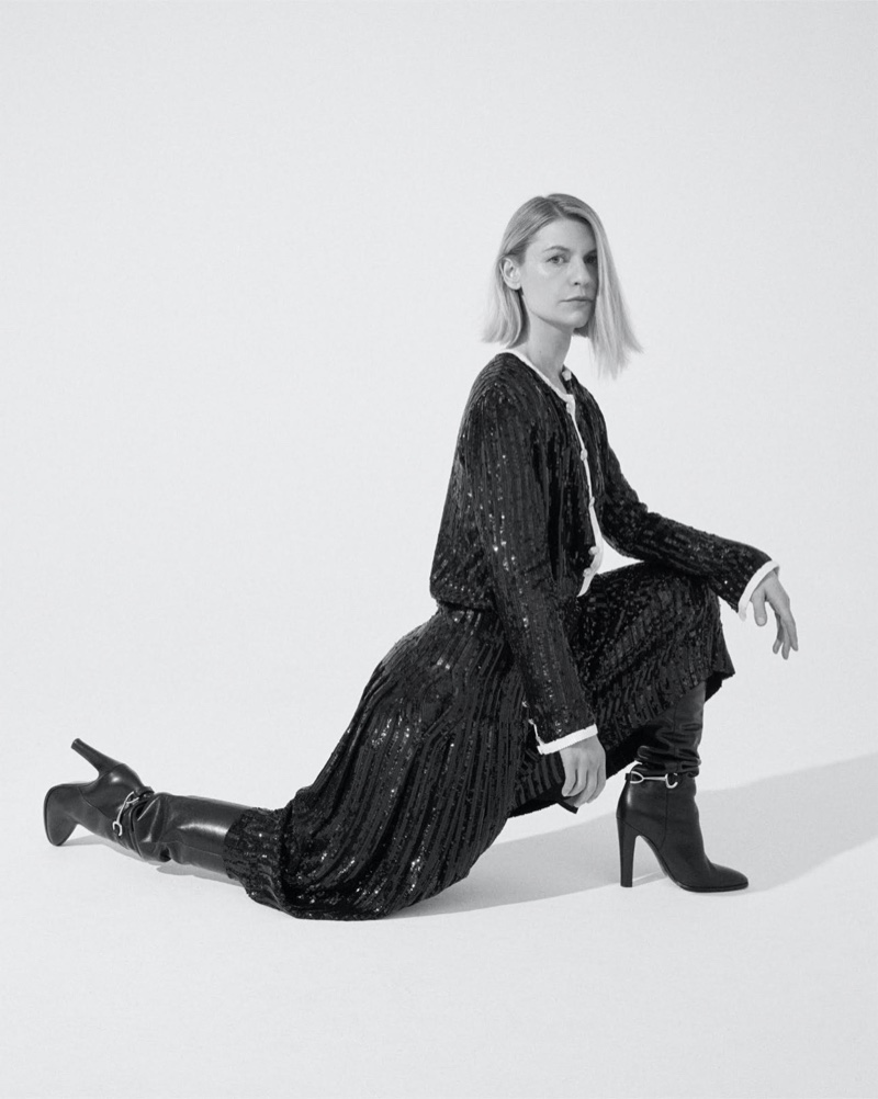 Photographed by Nagi Sakai, Claire Danes poses in Celine look.