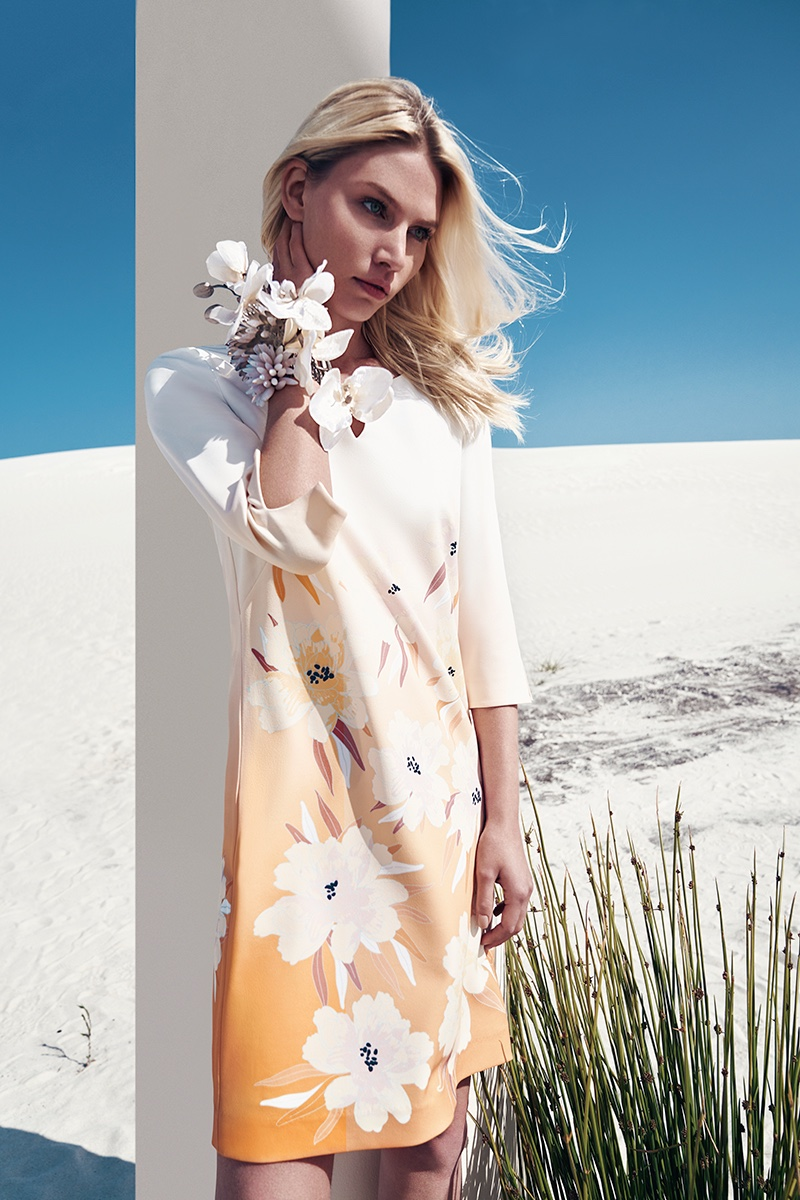 Aline Weber poses for Comma spring-summer 2020 campaign.