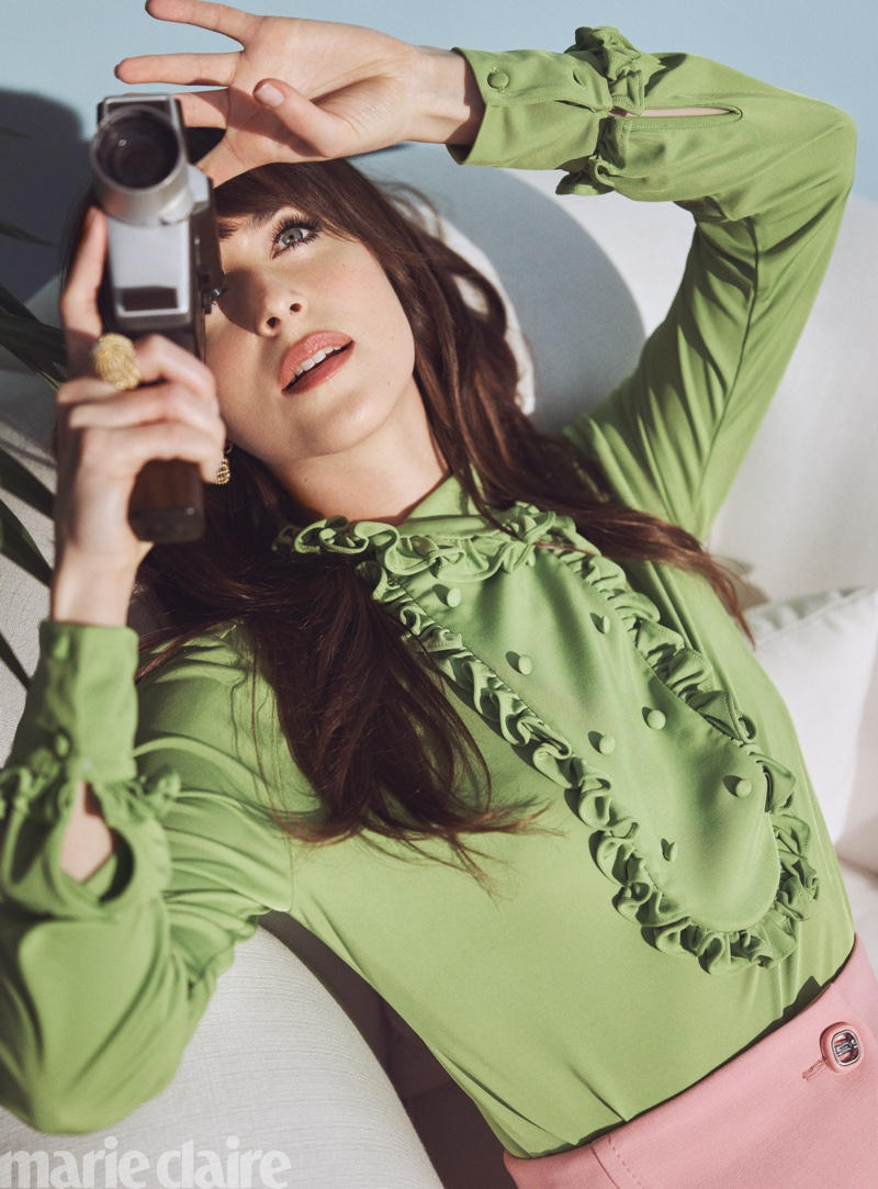 Dakota Johnson Marie Claire Us 2020 Cover Photos Fashion Gone Rogue