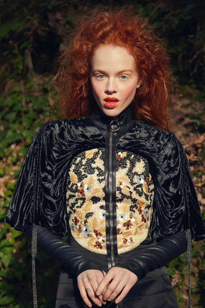 Dasha Vikhreva Models Enchanting Styles for Harper's Bazaar Mexico