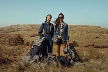 Adesuwa Aighewi and Yoon Young Bae star in Dior DiorTravel luggage campaign.