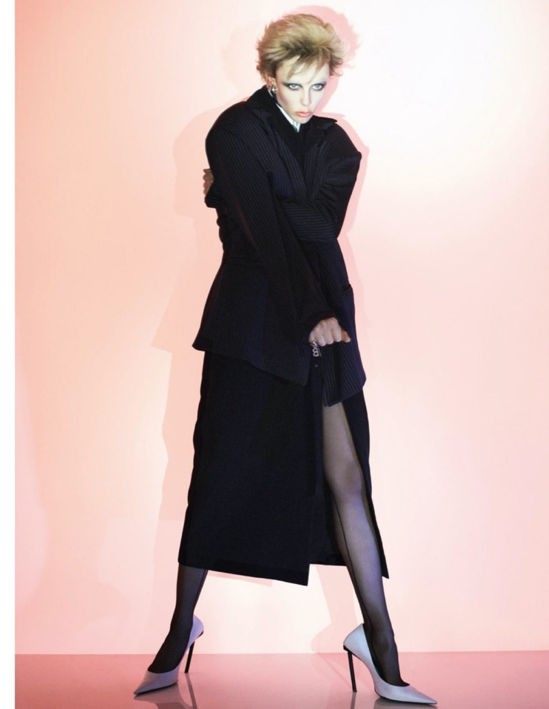 Edie Campbell Takes On Power Dressing for Vogue Paris