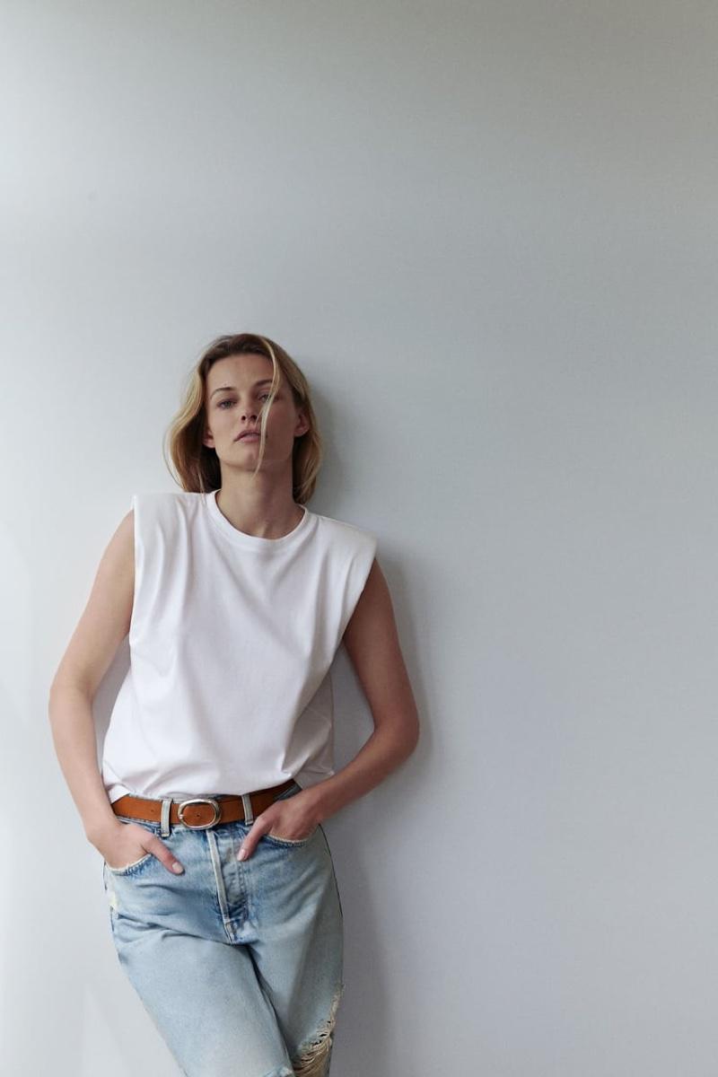 Edita Vilkeviciute stars in Zara spring-summer 2020 arrivals.