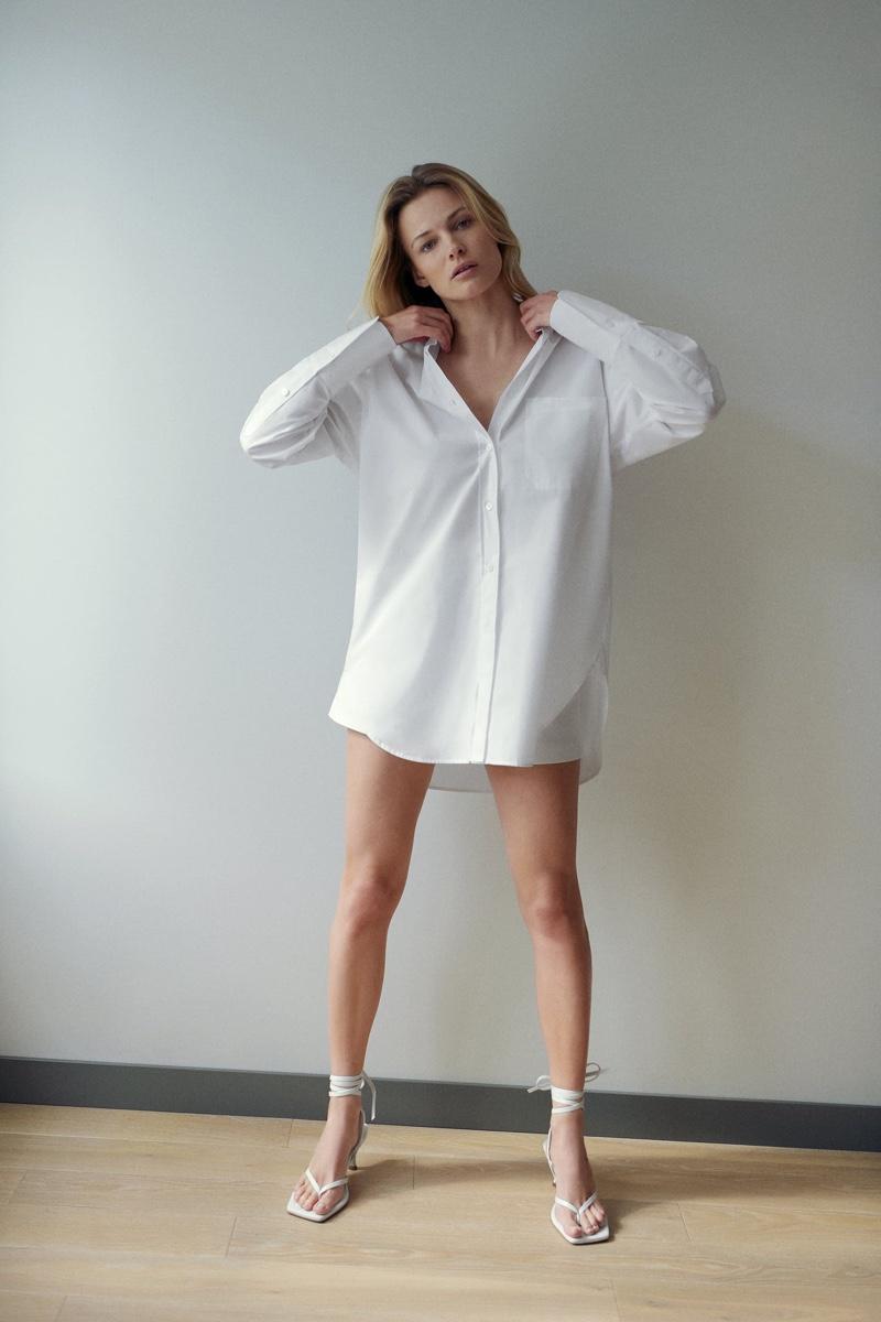 Zara Oversized Poplin Shirt.