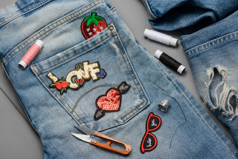 Embellished DIY Jeans Patches