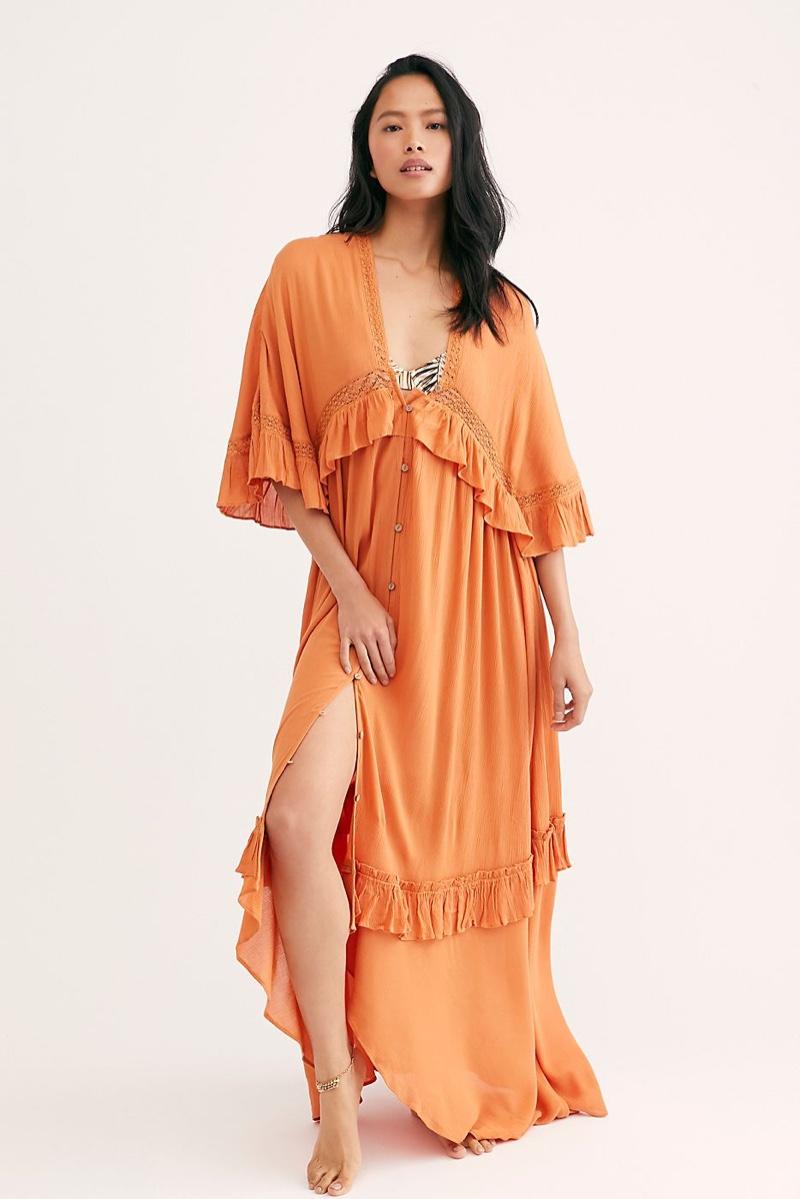 Endless Summer Paradiso Maxi Dress in Lilium Orange $108