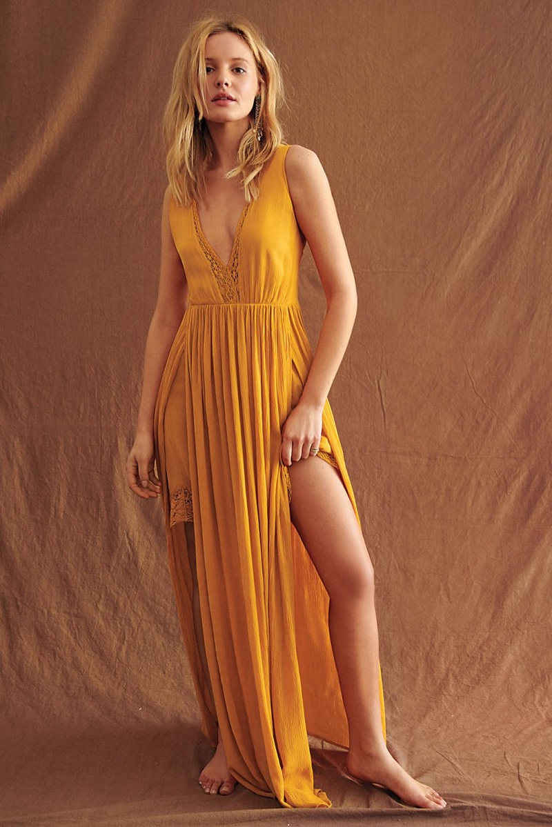 Endless Summer Strong Statement Maxi Dress in Orange Oasis $118