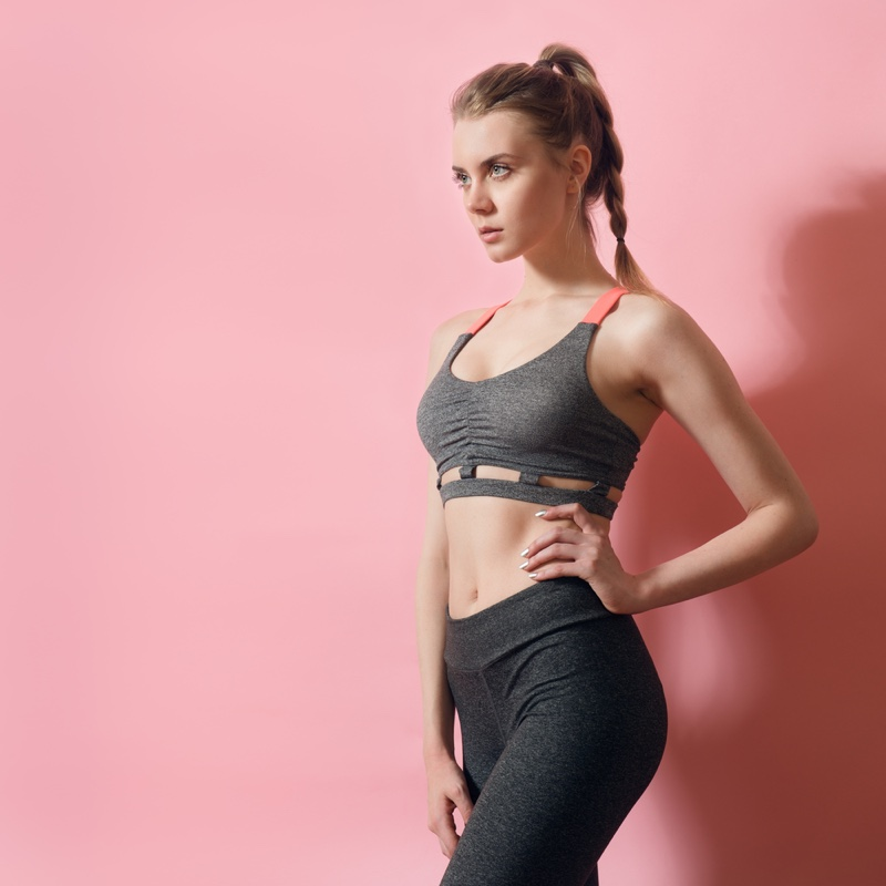 Fitness Model Activewear Flat Stomach