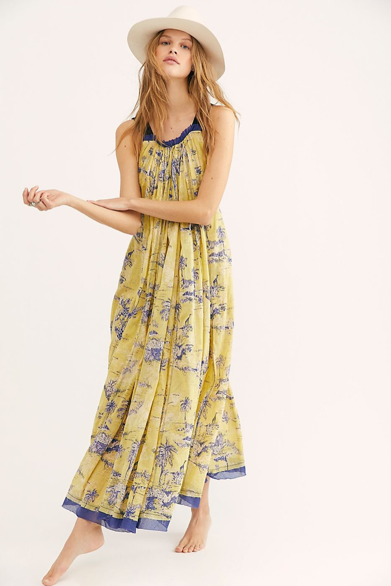 Free People Tropical Toile Maxi Dress in Jungle Combo $168