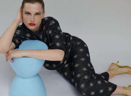Zara Printed Pocket Sweater and Printed Knit Pants.
