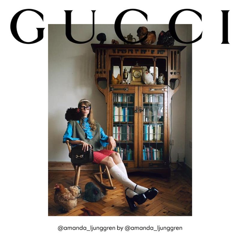 Amanda Ljunggren stars in Gucci The Ritual fall 2020 campaign.