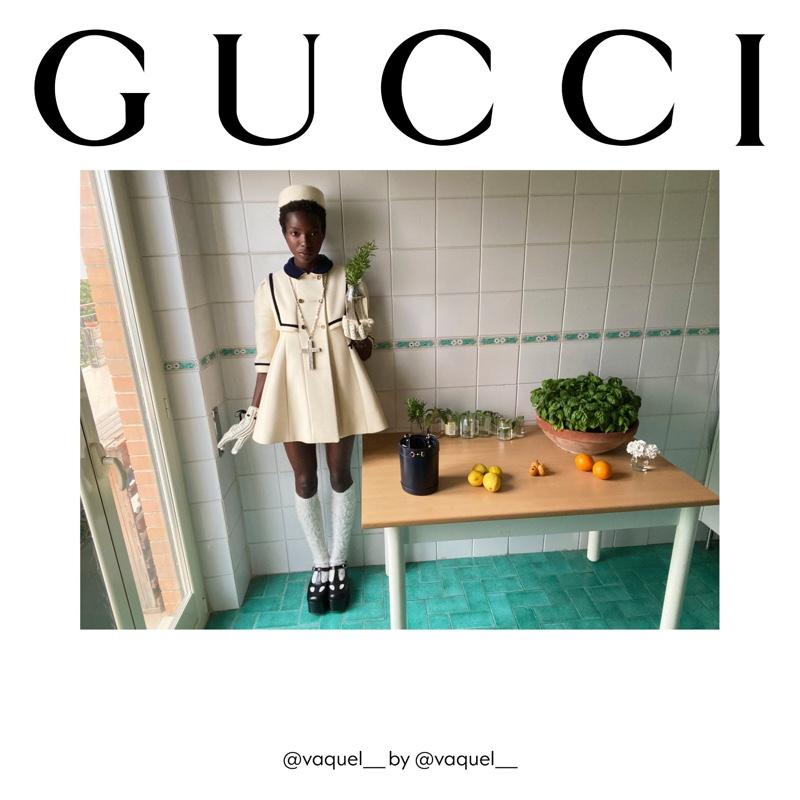 Vaquel Tyies fronts Gucci The Ritual fall 2020 campaign.