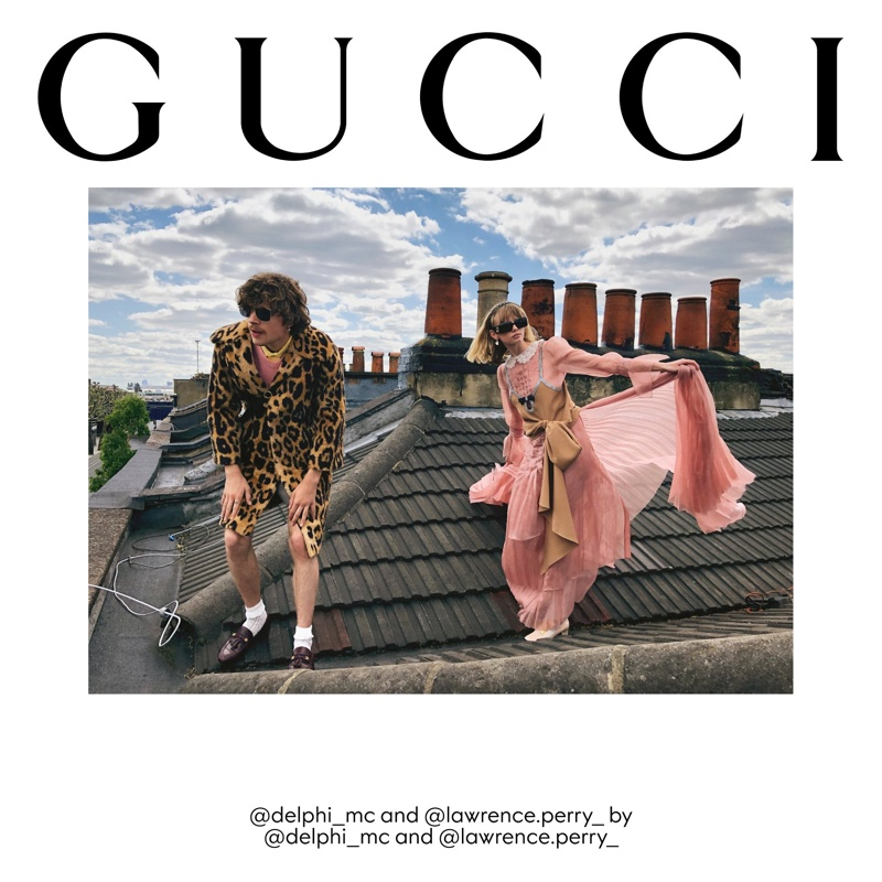 Delphi McNicol and Lawrence Perry front Gucci The Ritual fall 2020 campaign.