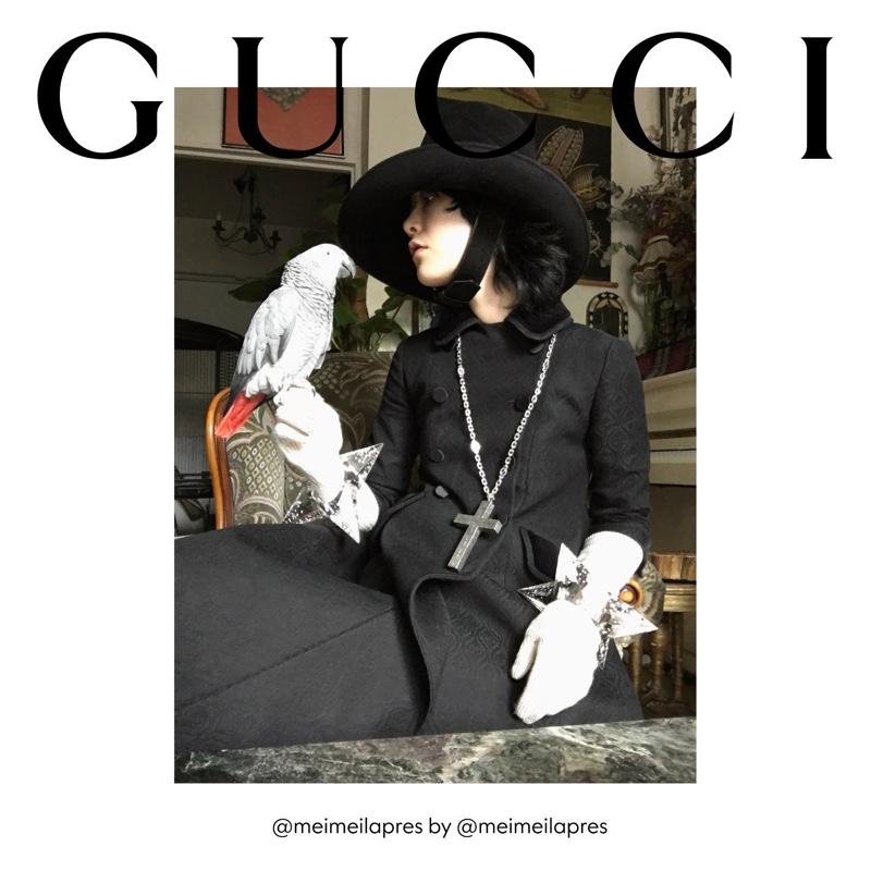 Mae Lapres stars in Gucci The Ritual fall 2020 campaign.